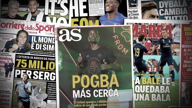 Milinković-Savić rapproche Paul Pogba du Real Madrid, Paulo Dybala pense au Paris Saint-Germain