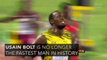 Usain Bolt is no longer the fastest man in history.