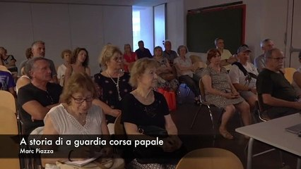 L'histoire la Guardia corsa papale racontée aux Bastiais de l'animation du Patrimoine