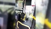Üsküdar Burhaniye durağında metrobüs kaza yaptı