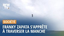 "Franky Zapata s'apprête à traverser la Manche sur son ""Flyboard"""