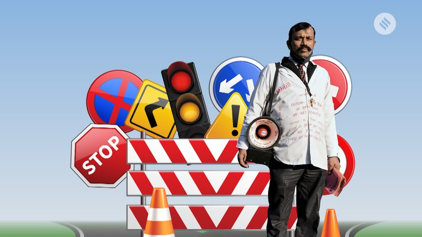 Doctor by profession, traffic man by choice