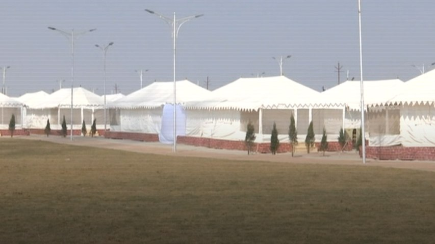 Luxury tents for pilgrims attending Kumbh mela from India and abroad