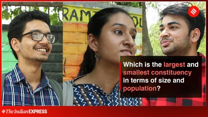 Which is the largest and smallest constituency in terms of size and population?