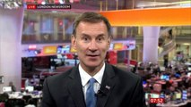BBC Breakfast presenter Naga Munchetty challenges Jeremy Hunt for refusing to say 'R word' to condemn Donald Trump