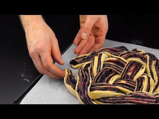 Verknote den Teig SO auf dem Blech und die Kuchenrunde freut sich am Sonntagnachmittag.