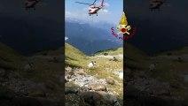 Resia (UD) - Gregge di pecore finisce in un burrone (24.07.19)