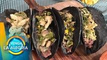 ¡Crujientes tacos de fajitas de pollo cremosas! | Venga La Alegría