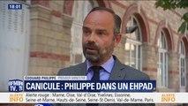 """Édouard  Philippe sur la canicule: """"Nous sommes plus inquiets pour ceux qui sont isolés"""""""