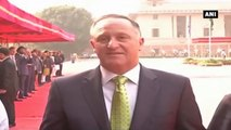 New Zealand PM Receives Ceremonial Reception At President's House In New Delhi