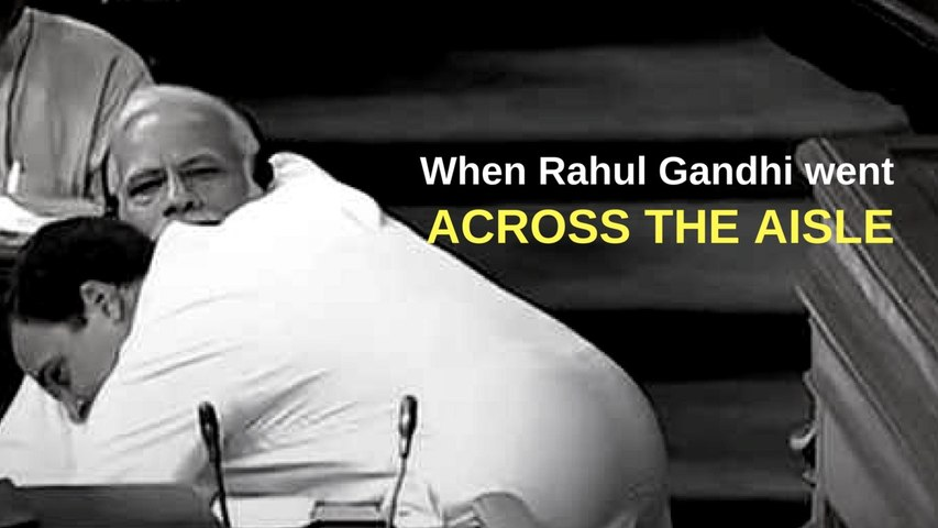 When Rahul hugged Modi: Call me Pappu, insult me. But I have no hate for you