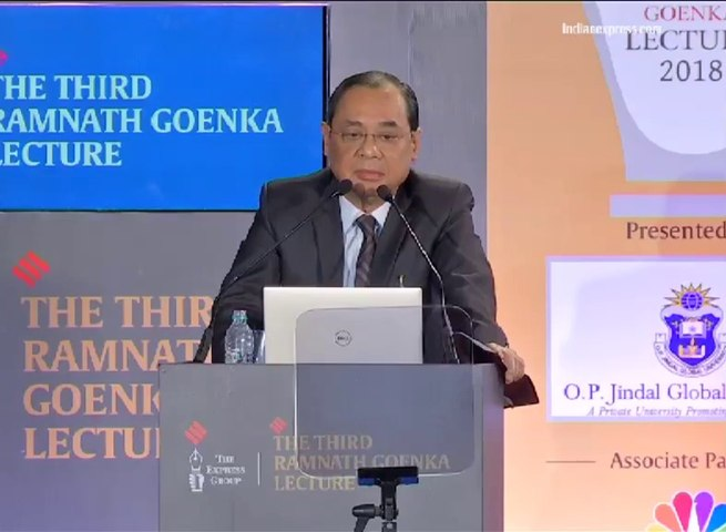 Full speech of Justice Ranjan Gogoi at the third Ramnath Goenka memorial lecture