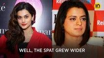 Taapsee Pannu finally reacts to sisters Kangana Ranaut and Rangoli Chandel