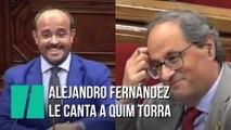 Alejandro Fernández le canta a Quim Torra una canción de Manolo Escobar