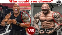 The Rock vs Dave Batista training Body and Workout ★ 2018 (Who is better?)