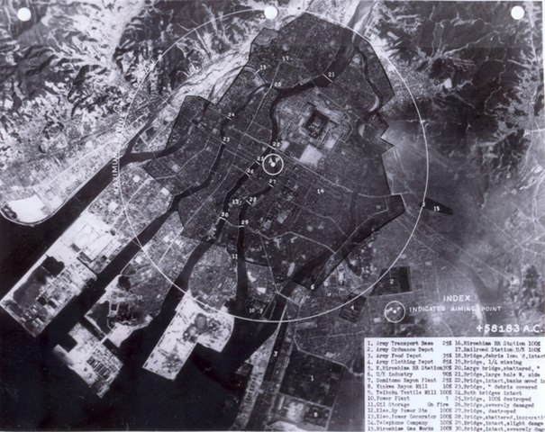 The day the first and the only time atomic bombs were unleashed on Hiroshima, Japan