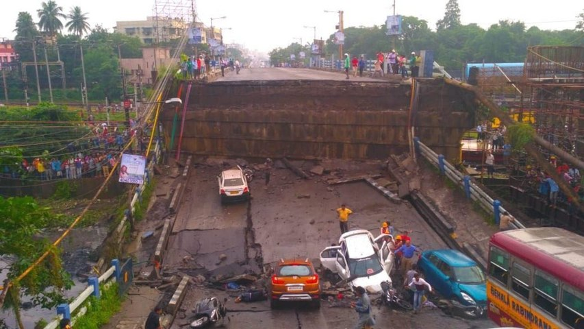 Majerhat bridge collapses in Kolkata, several feared trapped