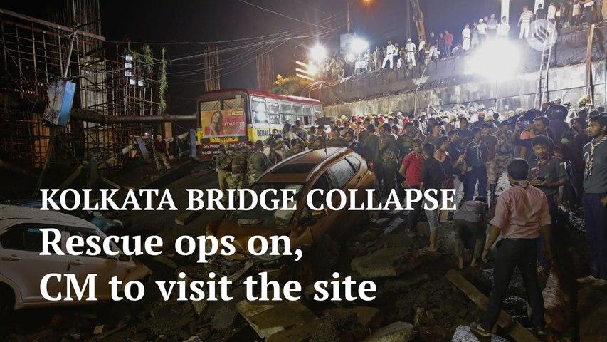 Kolkata bridge collapse: Rescue operations continue at the site, Mamata Banerjee to visit at 2 pm