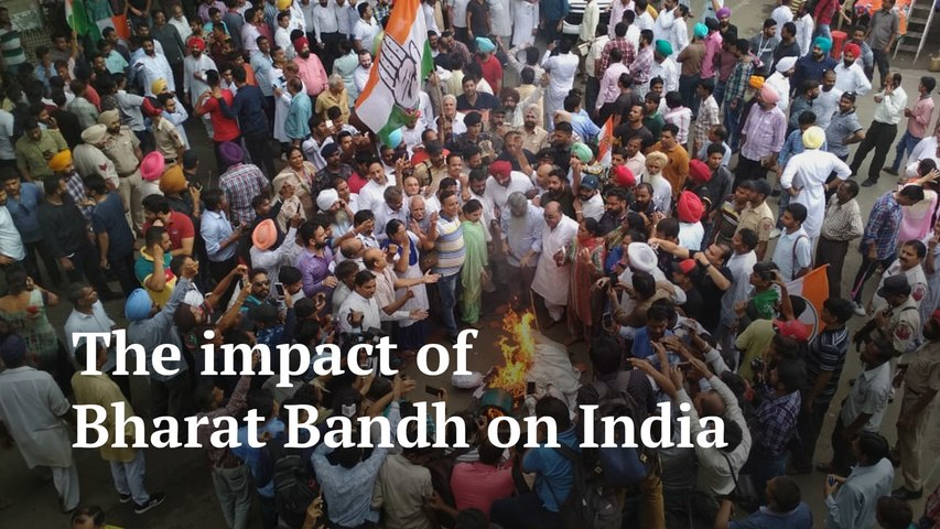Bharat bandh: Protest turns violent in some states, politicians blame each other