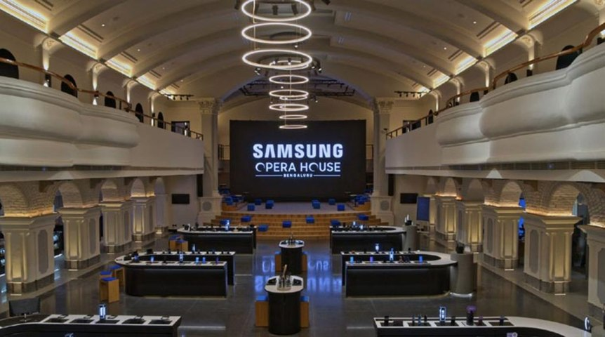 Inside Opera House, Samsung's largest mobile experience store