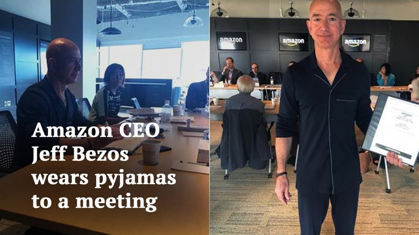 Why Amazon CEO Jeff Bezos wore pajamas to board meeting