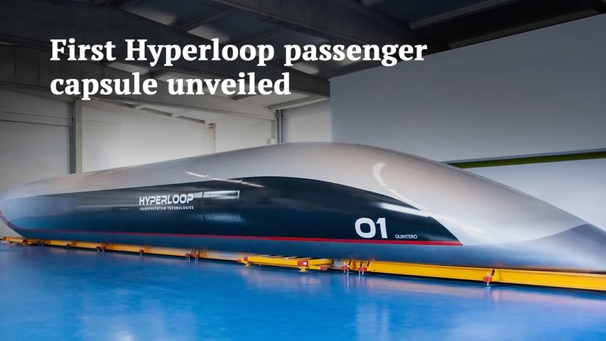 Hyperloop unveils its first passenger capsule