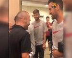 Barça - Retrouvailles entre Iniesta et ses anciens coéquipiers