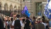Londres: manifestation contre Boris Johnson, le nouveau Premier ministre britannique