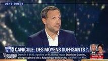 """Adrien Taquet assure qu'en juin, """"3% des visites aux urgences étaient liées à la canicule"""""""
