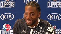 Kawhi Leonard gets laughs at introductory press conference with Paul George - NBA on ESPN