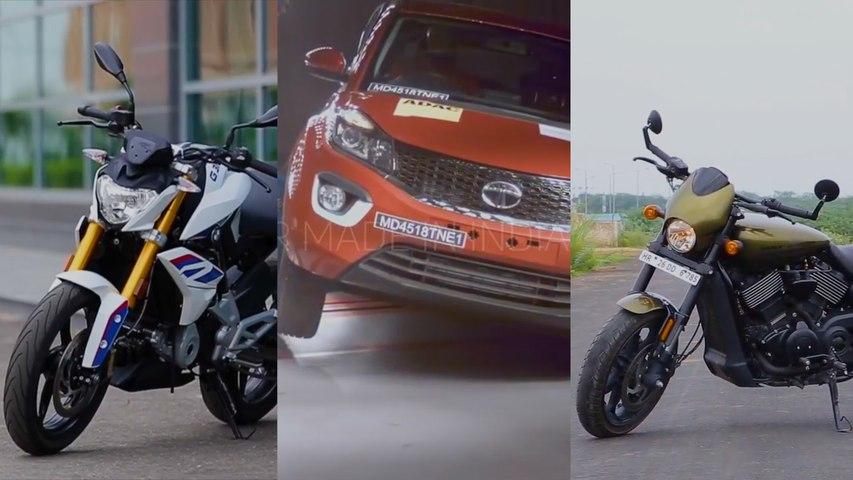 Tata Tiago top trim launched | Nissan Kicks bookings | Harley & BMW Motorrad discounts