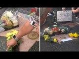 Aretha Franklin: Les fans viennent fleurir son étoile sur Hollywood Boulevard