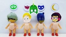 Learn colors with wrong masks pj masks and wrong costumes toys for kids
