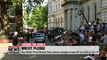 New British Prime Minister Boris Johnson pledges to lead UK out of EU on Oct. 31
