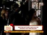 Ashton Kutcher files for divorce