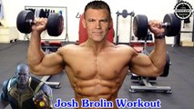 Josh Brolin training for THANOS in Avengers Infinity war and Deadpool 2