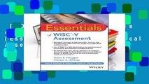[MOST WISHED]  Essentials of WISC-V Assessment (Essentials of Psychological Assessment)