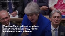 Theresa May Makes Farewell Speech, Wishing Boris Johnson Well