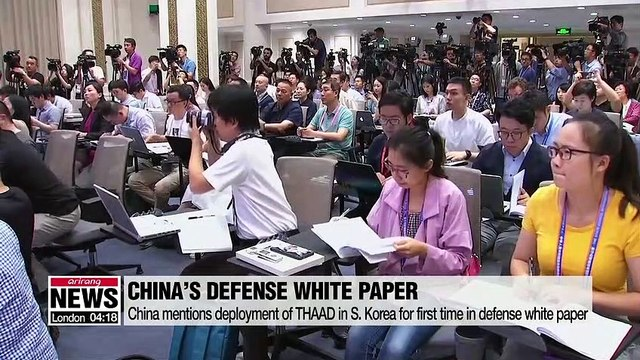 China's defense white paper criticizes deployment of THAAD for the first time