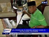 DOJ orders NBI to prepare 'airtight' cases vs. Sultan kiram, followers