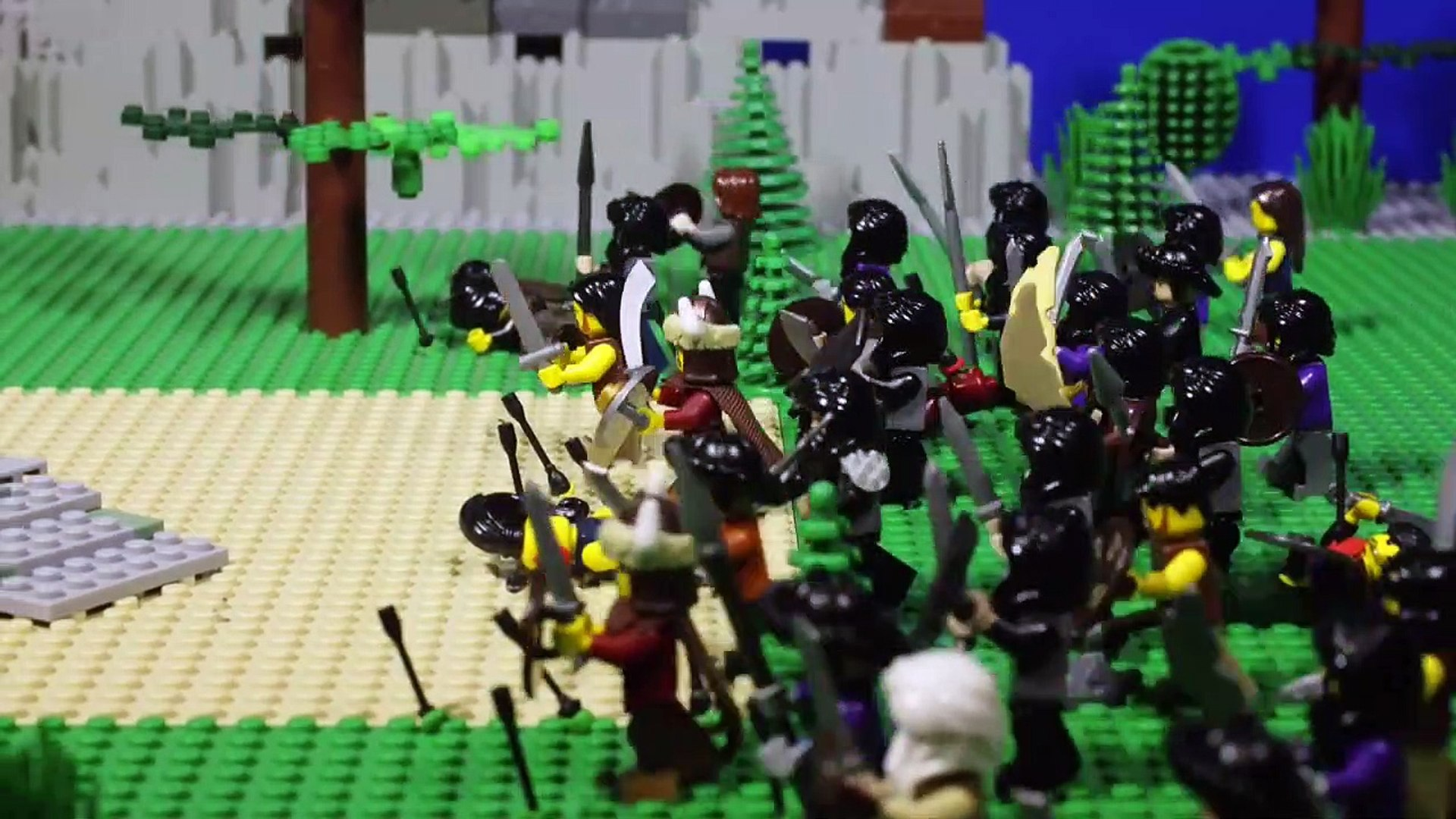 Mongols invasion into Europe / Medieval battle / Lego film (animation)