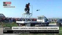 Regardez la tentative de traversée de la Manche de Franky Zapata sur son Flyboard Air - Il a chuté au moment du ravitaillement - VIDEO