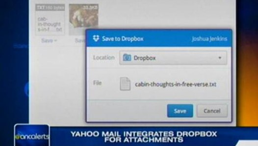 Yahoo! Mail integrates Dropbox for attachments