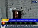 Pope Francis sends prayers to Iran quake victims