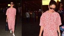 Kareena Kapoor Khan stuns at Mumbai airport in Red & White dress; Check out | Boldsky