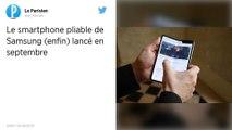 Le smartphone à écran pliable de Samsung commercialisé en septembre prochain