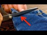 Coupez l'ourlet de votre jean. Vous verrez ce qui va suivre.