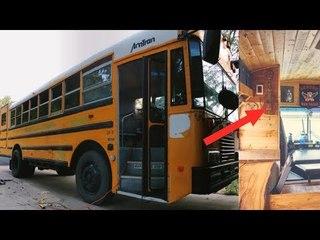 On dirait un simple bus scolaire, mais un aperçu de l'intérieur va vous couper le souffle !