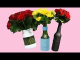 3 Clever Hacks For Turning Old Bottles Into Beautiful Vases