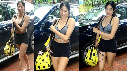 Jhanvi Kapoor spotted at gym in short dress; Check Out   FilmiBeat